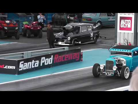 NSRA 30th Hot Rod Drags 2018 - Track Action part 5