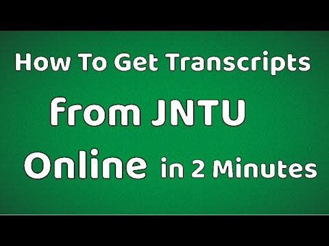 How to get BTech Transcripts from JNTU Online | BTech Transcripts Online  Process | BTech Transcripts