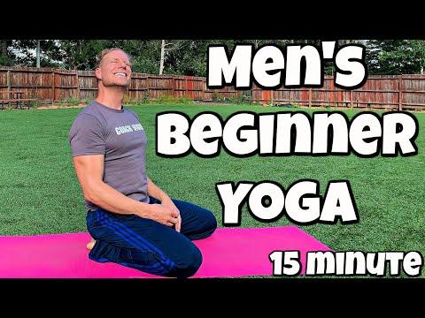 15 Min Yoga for Men Beginner Routine Full Body Flexibility | Sean Vigue