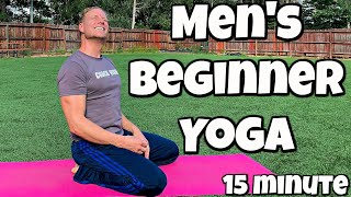 15 minute Beginner Yoga for Men - Full Body Flexibility Routine with Sean Vigue