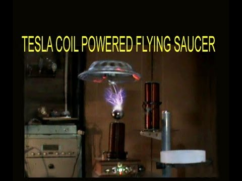 """Antigavity"" Method 15b Pt b of 15 -Worlds's 1st Free Flight of A Tesla Coil powered Flying Saucer!"