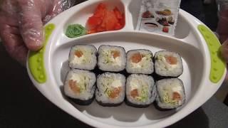 Ролл с лососем/роллы в домашних условиях/суши своими руками