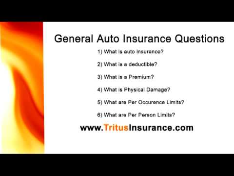 General Insurance Questions Auto YouTube Enchanting General Insurance Quote