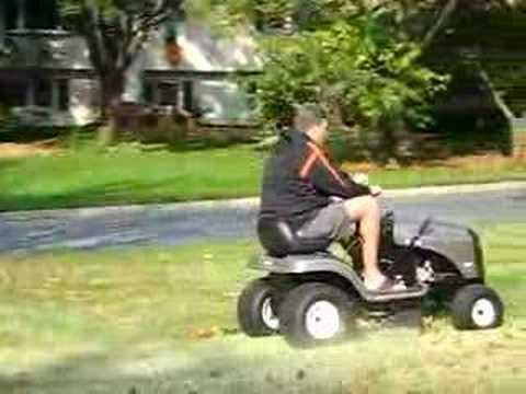 Still mowing the lawn