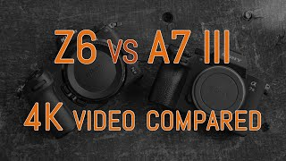 Nikon Z6 vs Sony A7 III - 4K Video Comparison (with commentary)