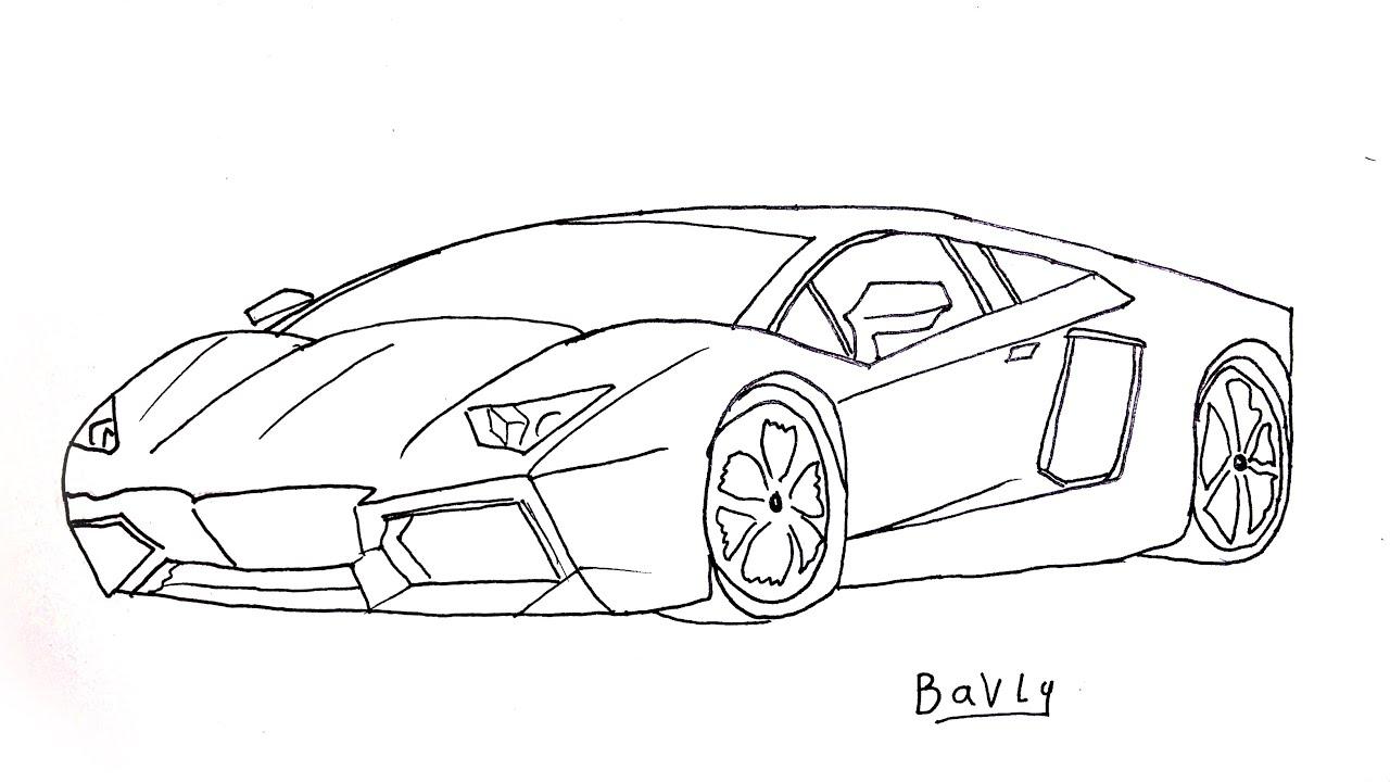 تعليم رسم سيارة لامبورجيني خطوة بخطوة للمبتدئين Youtube
