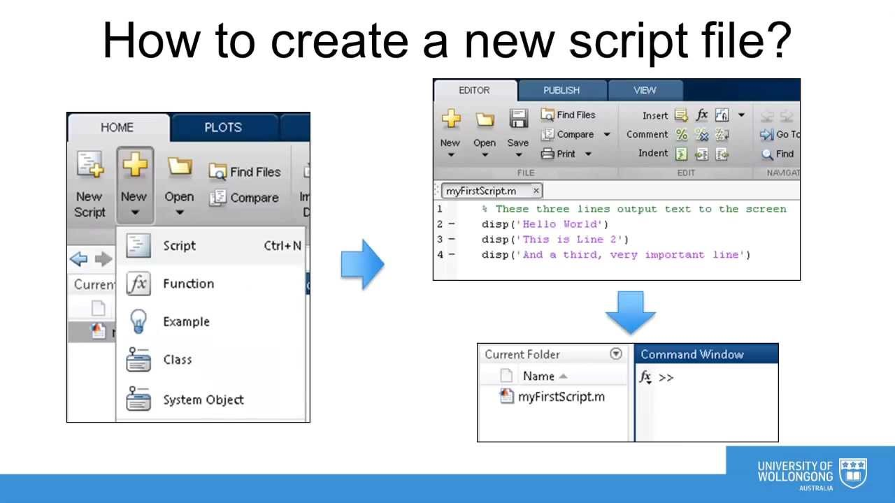 Writing Scripts and Functions in MATLAB
