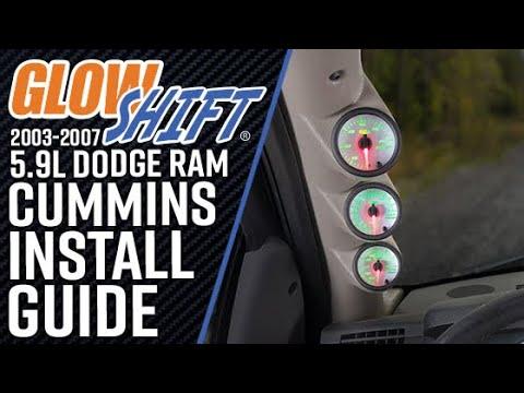GlowShift | How To Install A 2003-2007 5.9L Dodge Ram Cummins Diesel Gauge Package