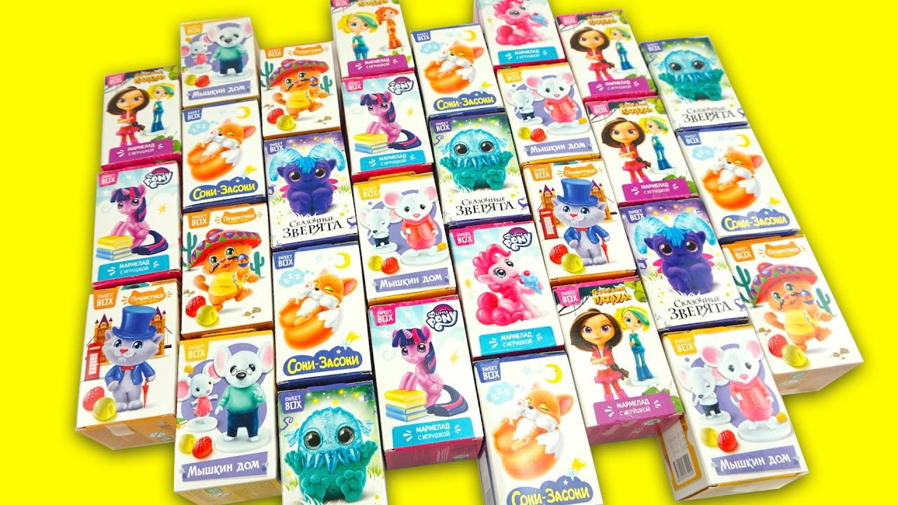 Куча сюрпризов, распаковываем и ищем игрушки из мультиков