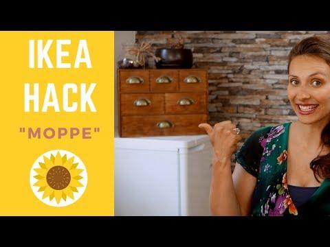 """diy-  -ikea-hack-""""moppe""""-  -vintage-kommode"""