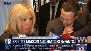 """Gilets jaunes: Brigitte Macron veut faire passer """"un message de non-violence"""""""