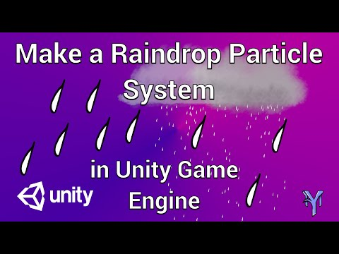 How To Make a Rain Drop Particle System in Unity and Gimp2. thumbnail
