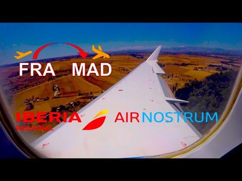 ✈︎ FULL FLIGHT ✈︎ Iberia Airways / Air Nostrum - FRA-MAD Barajas - Bombardier