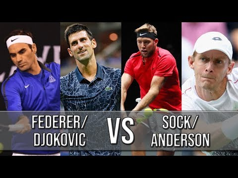Federer/Djokovic Vs Sock/Anderson - Laver Cup 2018 (Highlights HD)
