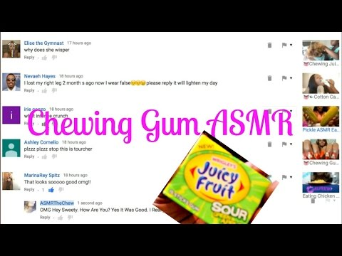 Chewing Gum ASMR Mouth Sounds/Juicy Fruit SourApple