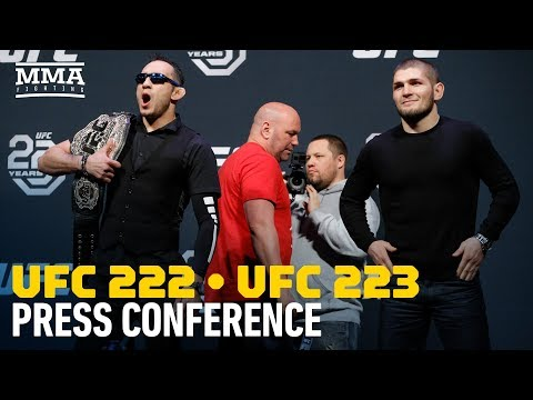 UFC 222, UFC 223 Press Conference in Boston