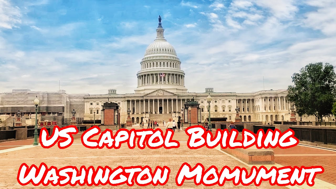 US Capitol Building, National Mall, Washington Monument, Lincoln Memorial -in Washington DC, USA