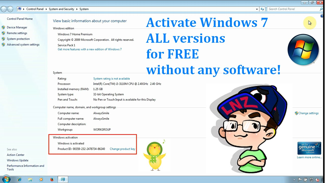 window 7 ultimate product key free download
