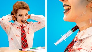 ZOMBIE AT SCHOOL! Crazy Zombie Pranks & Funny Situations