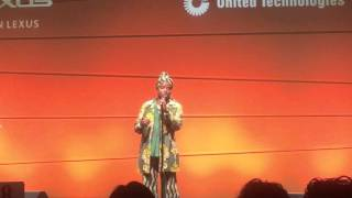 "Angelique Kidjo sings ""Voodoo Child"" by Jimi Hendricks."