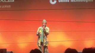 """Angelique Kidjo sings """"Voodoo Child"""" by Jimi Hendricks."""