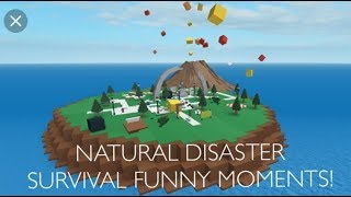 ROBLOX: Natural Disaster Survival FUNNY MOMENTS! BxB BxB