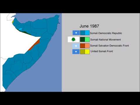 Somali Civil War Part 1 (1978 - 1991): Every Month