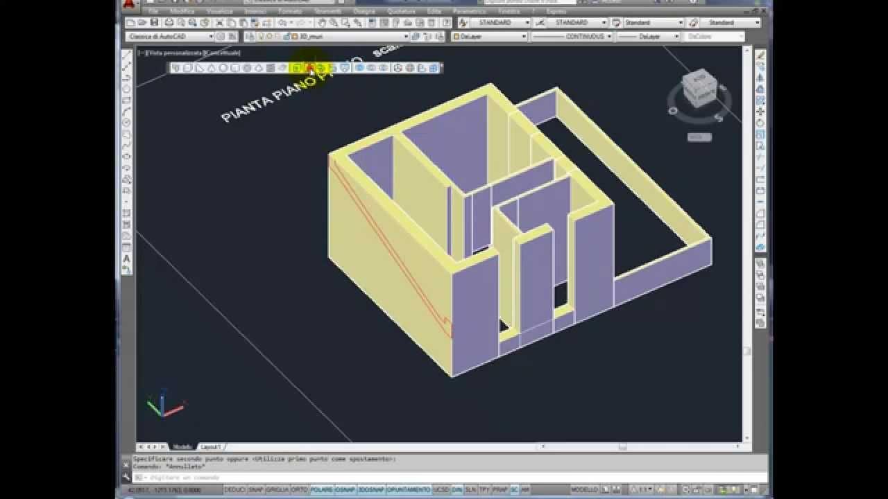 Dal 2d al 3d di un edificio con autocad parte 2 for Programmi architettura 3d gratis