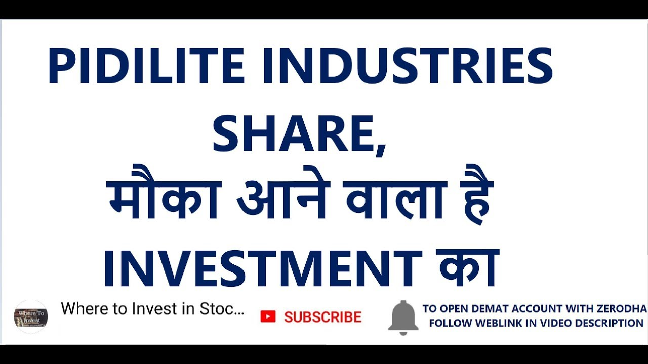 Pidilite Industries Share म क आन व ल ह Investment क Long Term Investment In Stocks Youtube