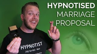 FUNNIEST PROPOSAL EVER (Hypnotist Rory Z 'pops the question' to his hypnotised girlfriend)