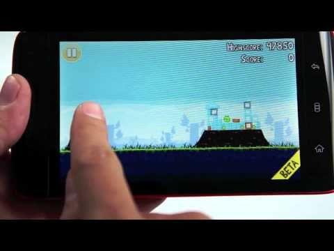 Tinhte.vn - Bắn chim(Angry Birds) beta cho Android trên Dell Streak