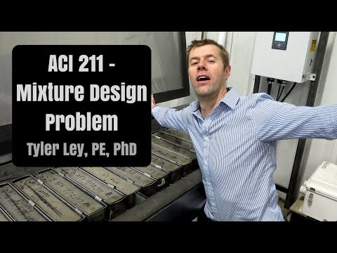 ACI 211 Concrete Mix Design Example (excel sheet included)