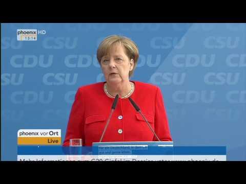Wahlprogramm der CDU/CSU: Vorstellung durch Angela Merkel und Horst Seehofer am 03.07.2017