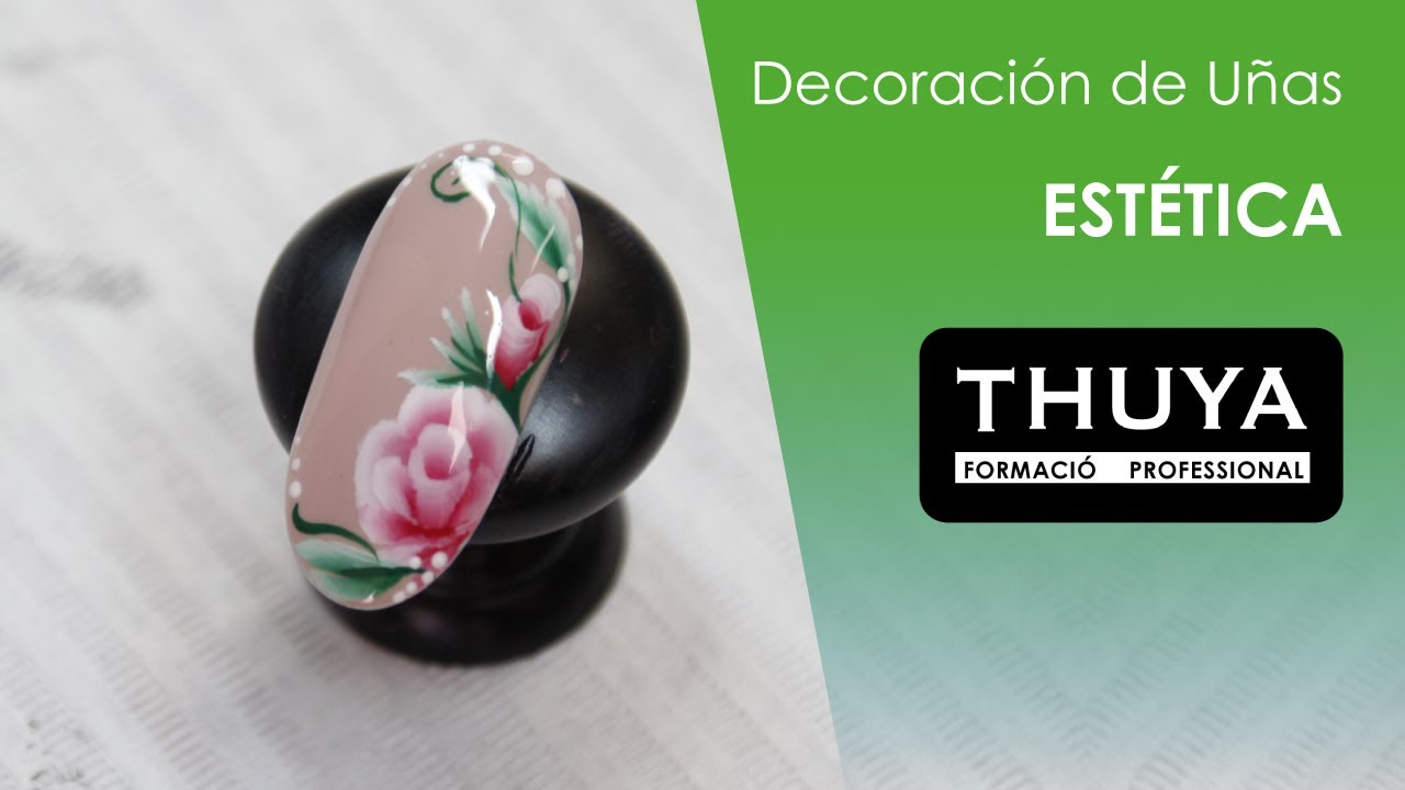 Decoración uñas One Stroke - YouTube
