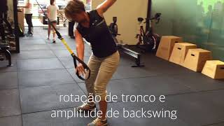 Golf Rotation exercise with TRX