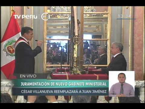 Cesar Villanueva juramentó como nuevo titular de la PCM