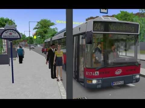 Omsi 2 .  bus simulator 2. LINE: A24 MAPS:  Vienna.