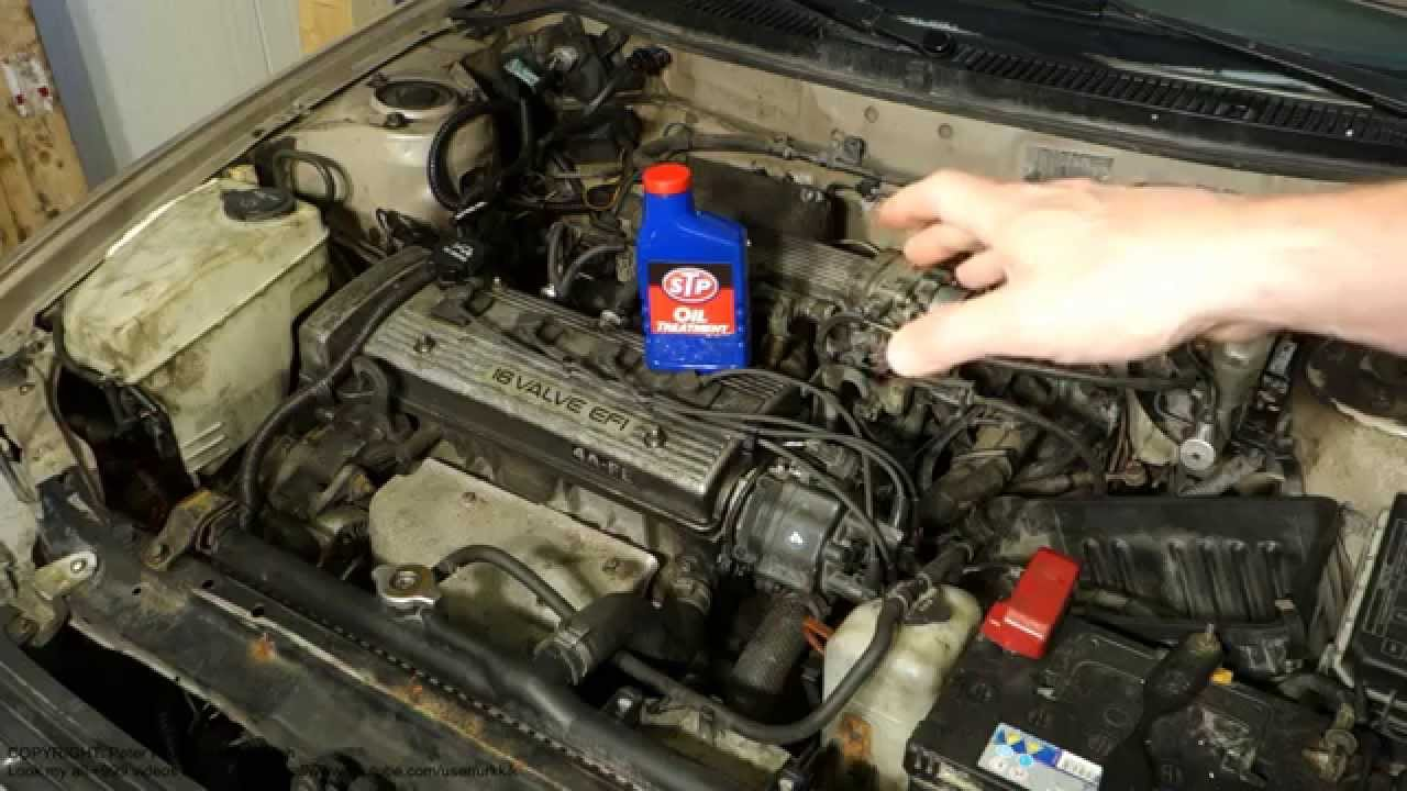 How to use STP oil treatment in car or pickup truck engine or motor