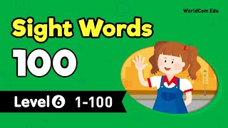 Download lagu Sight Words 100 LEVEL 6 Full   Lesson 1-20   Kids English   Kids Vocabulary   영어공부