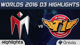 IM vs SKT Highlights Worlds 2016 D3 I May vs SK Telecom T1