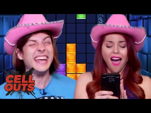 SHOCKING TETRIS CHALLENGE w/ ERIN FROM CLEVVER (Cell Outs)