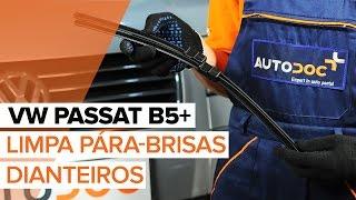 Como substituir a Escovas dos limpa pára-brisas dianteiros no VW PASSAT B5+ [TUTORIAL]