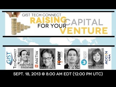 GIST Tech Connect: Raising Capital for Your Venture