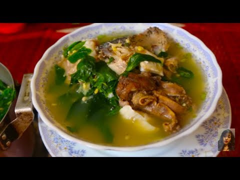How to make sweet and sour head fish soup with sleuk ngub for How to make fish soup