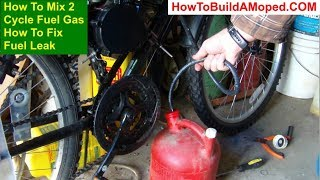 How To Fix Fuel Leak How To Build a Motorized Bike Part 34