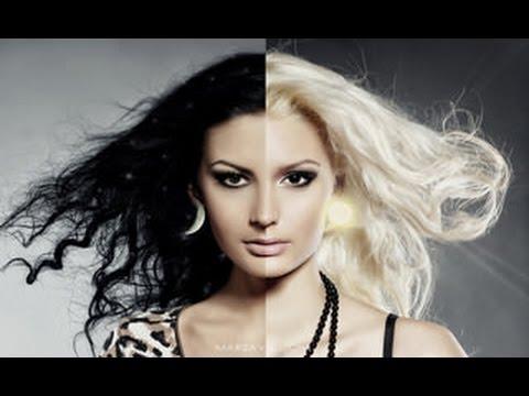 Как цвет волос меняет внешность.