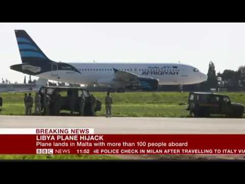 Libya hijack Plane carrying 118 diverted to Malta