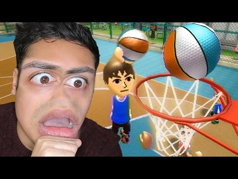 MOST INSANE BASKETBALL DUNK EVER 🏀!!! - (Wii Sports Resort)