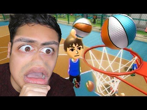 MOST INSANE BASKETBALL DUNK EVER 🏀!!! - (Wii Sports Resort)