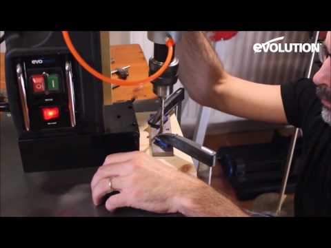 "Evolution Evosaw355 14"" Chop Saw: DIY metal vise build for the workshop!"